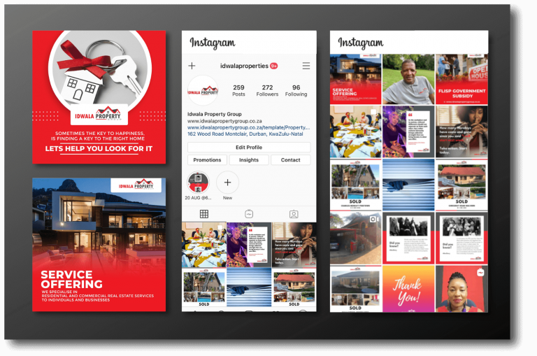 Idwala Property Instagram Marketing Example