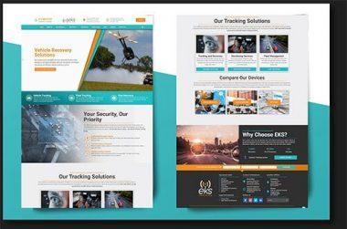 EKS Vehicle Tracking Website Examples by Vukawanele Marketing Example