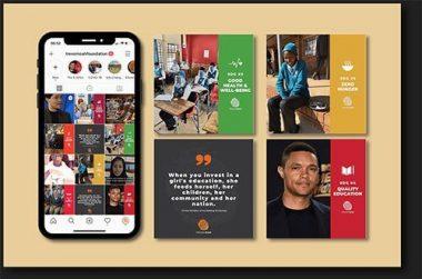 Noah Trevor Foundation Instagram with Shadow by Vukawanele Marketing Example